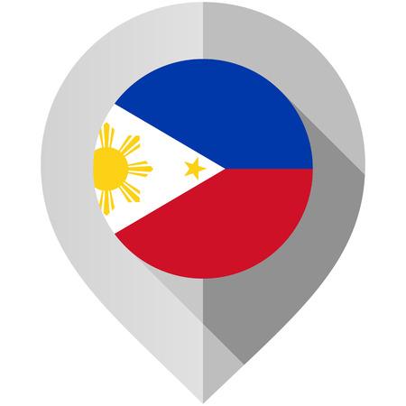 Marker with flag for map Illusztráció