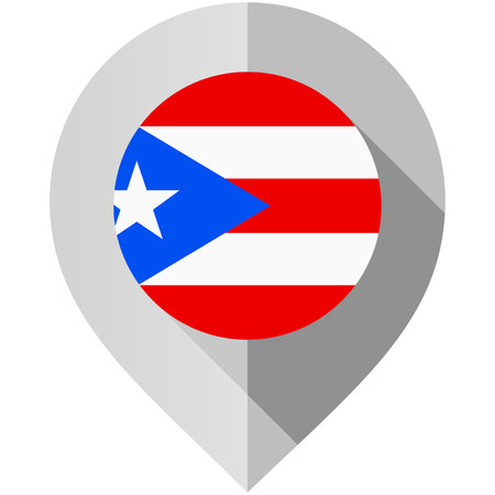 pointers: Marker with flag for map Illustration