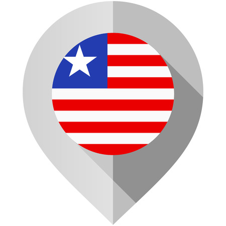 Marker with flag for map Illustration