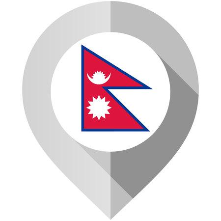 Marker with flag for map Illustration