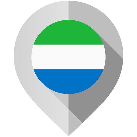 Marker with flag for map, vector illustration on white background Illustration