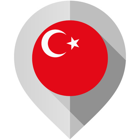 Marker with flag for map, vector illustration on white background Illustration