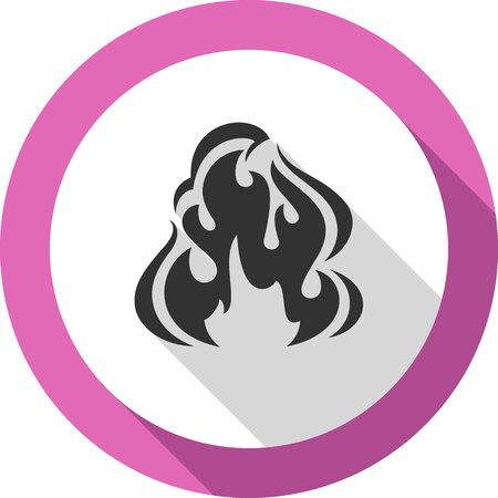 Fire flame, bagel color shape, for you design