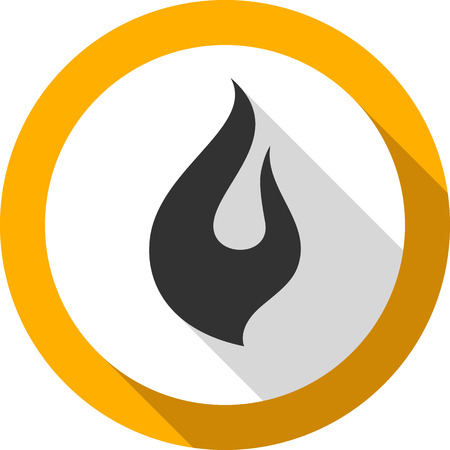 flammable warning: Fire flame, bagel color shape, for you design