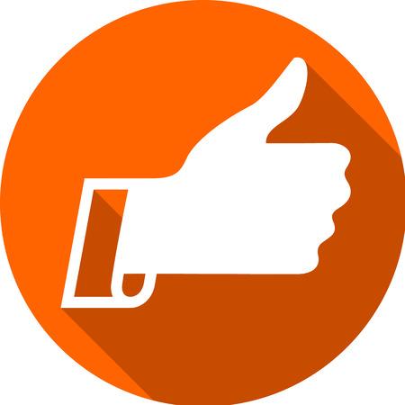 Thumbs up icon. Illustration