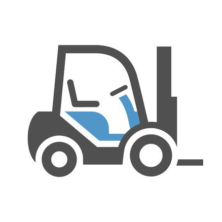 Lader - grijs blauw pictogram dat op witte achtergrond wordt geïsoleerd. Vector Illustratie