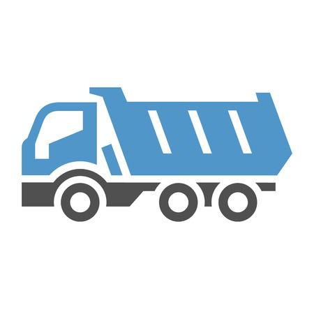 Dumper - icône bleue grise isolé sur fond blanc. Banque d'images - 92511021