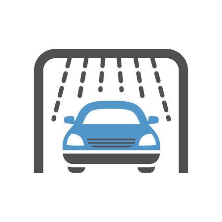 Car wash - gray blue icon isolated on white background.