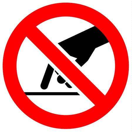 Znak zakazu. Czarny zakazany symbol w czerwonym okrągłym kształcie