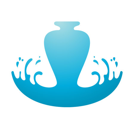 Wave with drop on white background, vector illustration Vettoriali