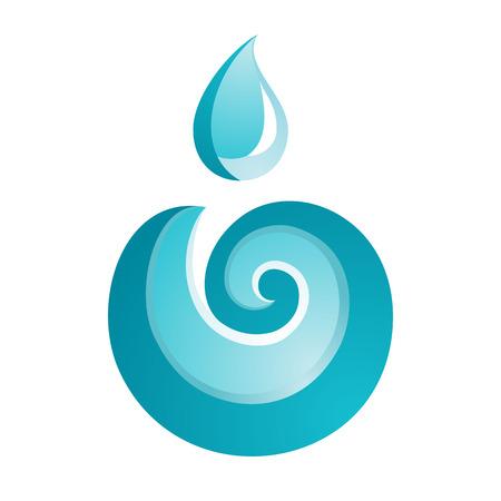 Wave icon on white background, vector illustration Illustration