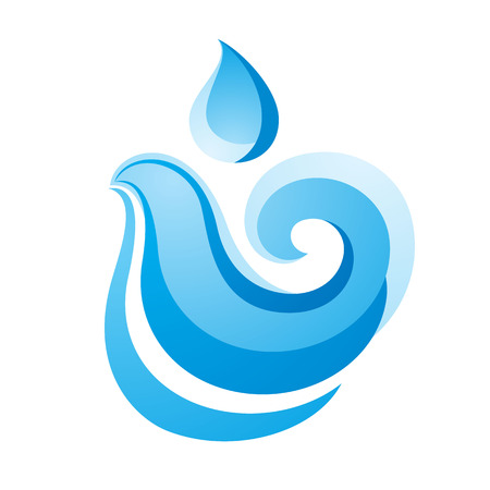 Wave icon on white background, vector illustration Illustration
