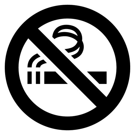 No smoking black sign on a white background