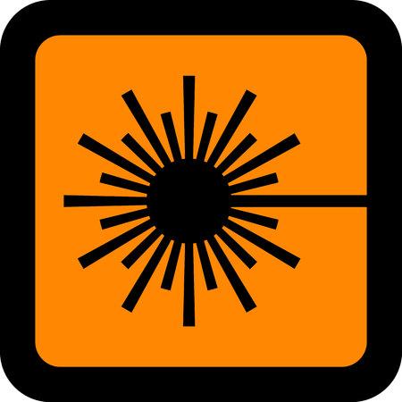 European standard hazard old symbol for labeling illustration. Illustration