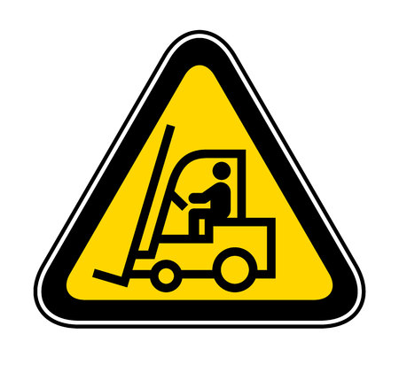 Triangular yellow Warning Hazard Symbol, vector illustration  イラスト・ベクター素材
