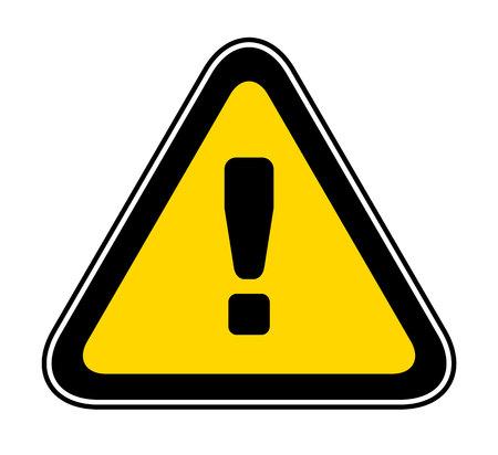 Triangular yellow Warning Hazard Symbol, vector illustration Stock Illustratie