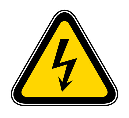 Triangular yellow Warning Hazard Symbol, vector illustration Illustration