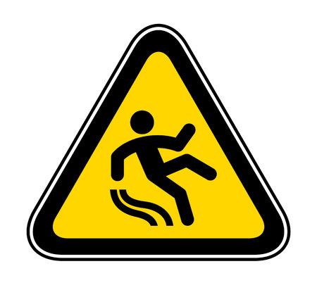 Triangular yellow Warning Hazard Symbol, vector illustration Vettoriali