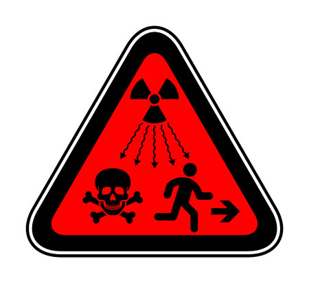 New ISO Standard - Ionizing-Radiation Warning Supplementary Symbol. New UN radiation sign Illustration
