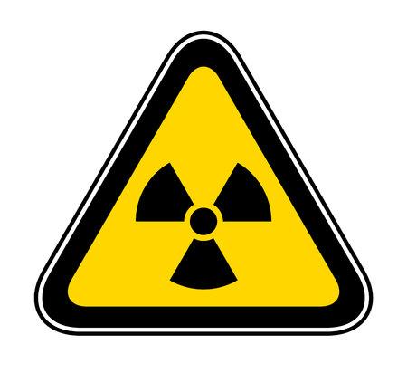 Triangular yellow Warning Hazard Symbol for bio hazard Stock Illustratie