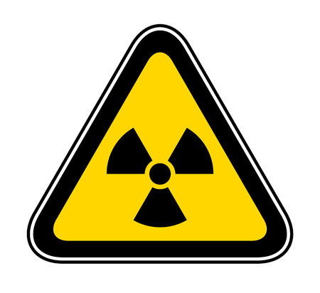 Triangular yellow Warning Hazard Symbol for bio hazard Ilustração