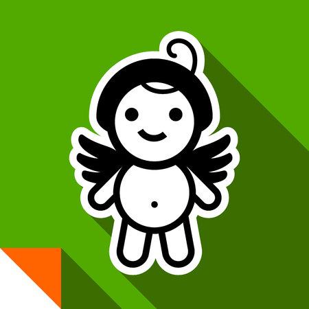 Female doll icon vector illustration