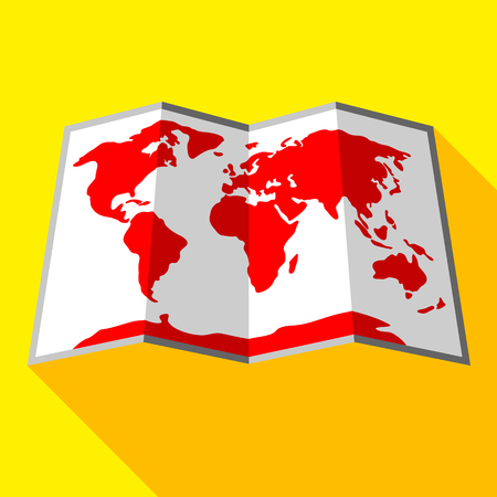 Bright colored map on a yellow background