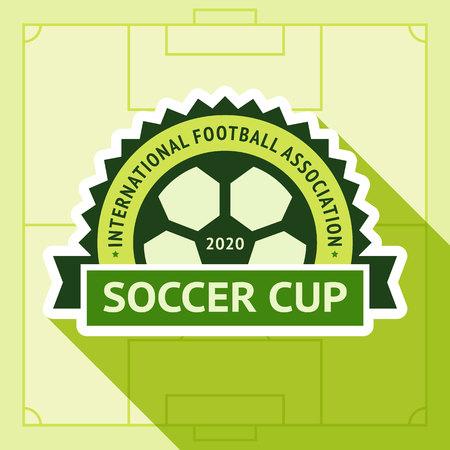 Football green badge