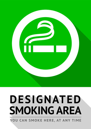Smoking area poster