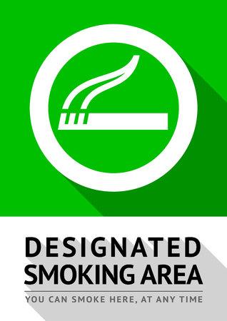Smoking area poster