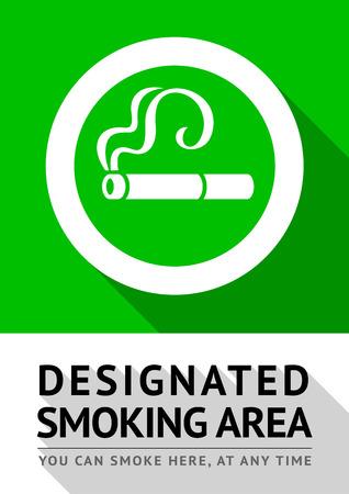 Smoking area poster Stock Vector - 100785952