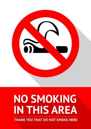 Geen rookvrije ruimte nieuwe poster, vectorillustratie om af te drukken
