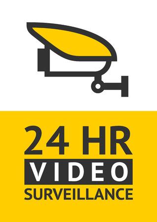 Notice Video Surveillance symbol, sticker. Vector illustration for print.
