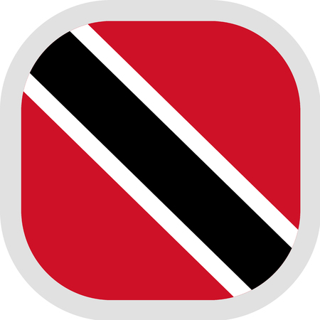 Flag of Trinidad and Tobago. Rounded square icon on white background, vector illustration.
