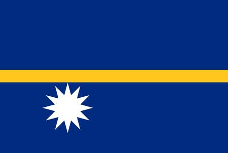 Flag of Nauru. Rectangular shape icon on white background, vector illustration.