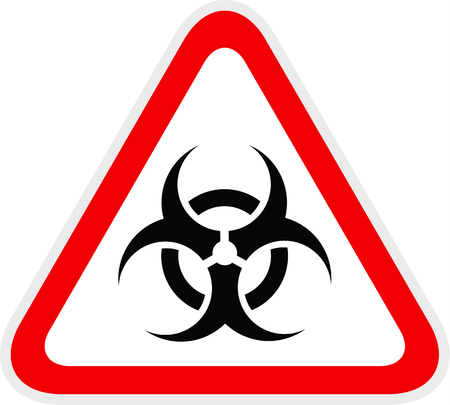 Triangular red Warning Hazard Symbol, vector illustration 向量圖像