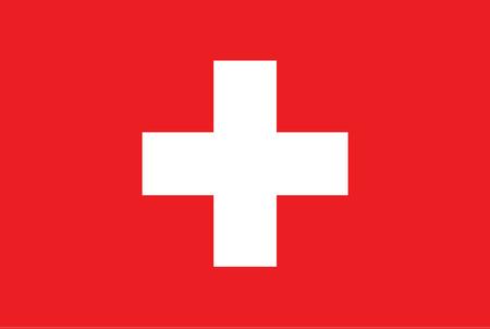 Flag of Switzerland. Rectangular shape icon on white background, vector illustration. 矢量图片