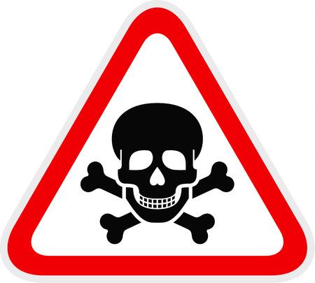 Símbolo de peligro de advertencia rojo triangular, ilustración vectorial Ilustración de vector