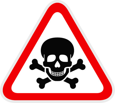 Triangular red Warning Hazard Symbol, vector illustration Illusztráció