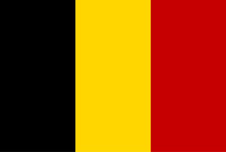Flag of Belgium. Rectangular shape icon on white background, vector illustration.