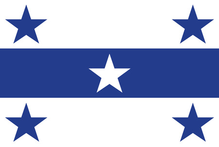 Flag of Gambier islands. Rectangular shape icon on white background, vector illustration. Stock Illustratie