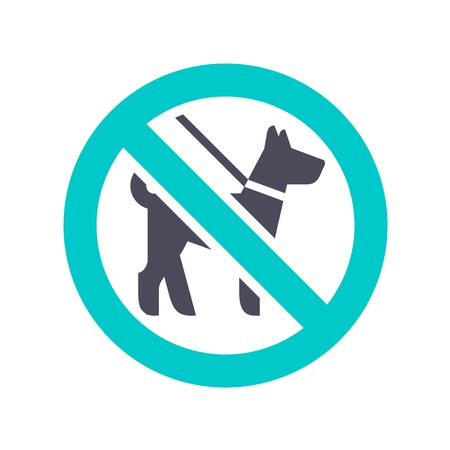 No dog, gray turquoise icon on a white background