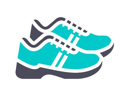 Sneakers, gray turquoise icon on a white background 向量圖像