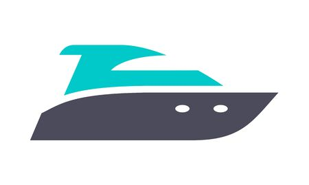 Water scooter icon, gray turquoise icon on a white background