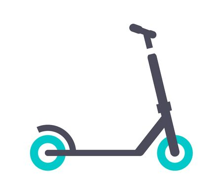 Micro scooter, gray turquoise icon on a white background Illustration