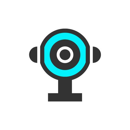 Video surveillance web camera vector illustration