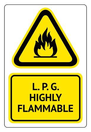 L.P.G. highly flammable Ilustração