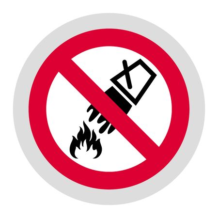Do Not Extinguish With Water forbidden sign, modern round sticker, vector illustration for your design