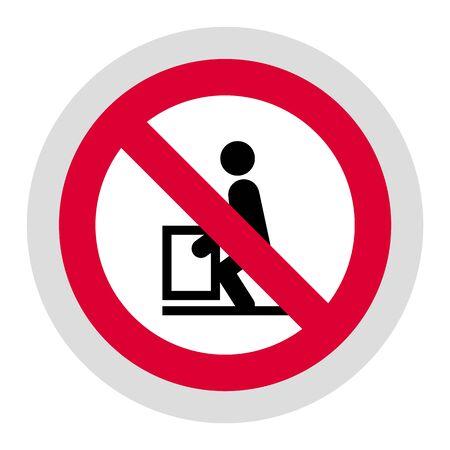 Heavy do not lift forbidden sign, modern round sticker, vector illustration for your design