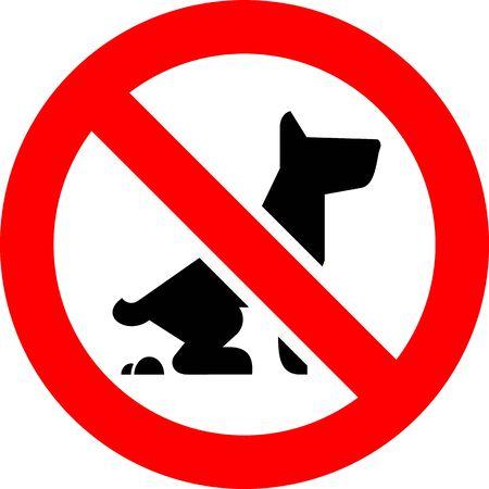 No Fouling Dog forbidden sign, modern round sticker, vector illustration Vektoros illusztráció